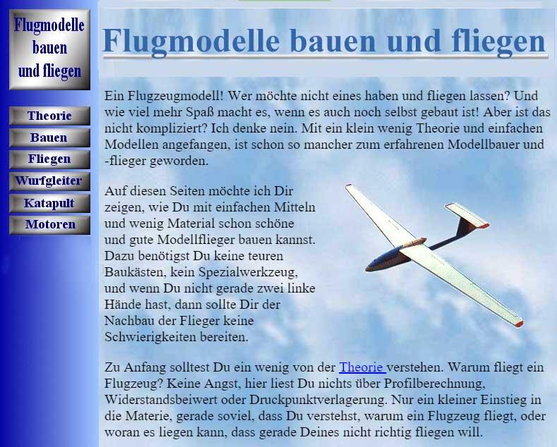 Flugmodelle bauen und fliegen
